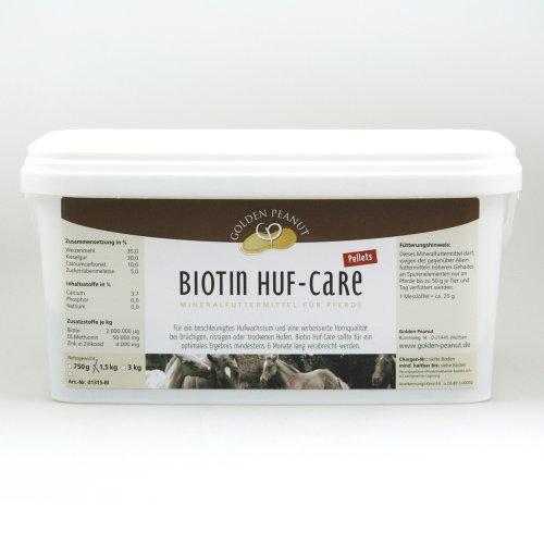 Biotin Huf Care Pellets Ergänzungsfutter für Pferde 3kg Eimer