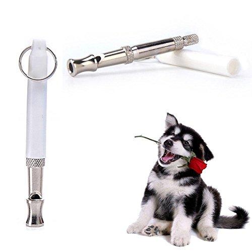 Silbato de perro AOLVO para detener el ladrillo, control de ladridos ultrasónico de la patrulla repelente de sonido, ajustable, silbato de entrenamiento disuasorio – Entrena a tu perro