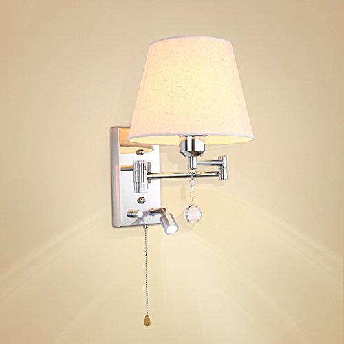Schlafzimmer Dimmen Wand Lampe Tuch Bett Leselampe Studie Studie Lesen Arbeitslicht mit Schalter -