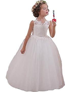 KekeHouse® Vestito Formale da Ragazza pizzo Vestito per Matrimonio Vestito da Comunione Vestito da damigellina...