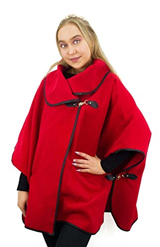 Comfiestyle - Poncho - Cape - Femme red