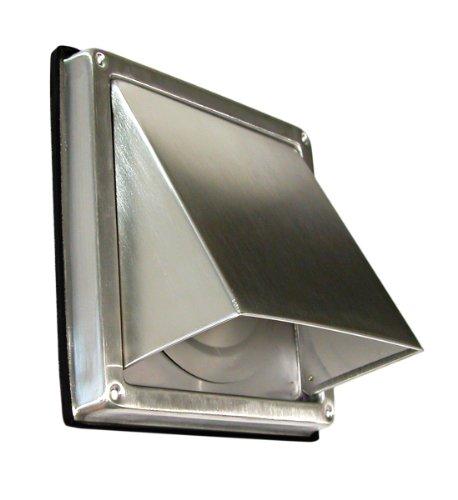 5510-serie (Edelstahl Ablufthaube Überduckklappe LG 5510 L Lüftungsgitter DN 100 int. Außenverschlussklappe)