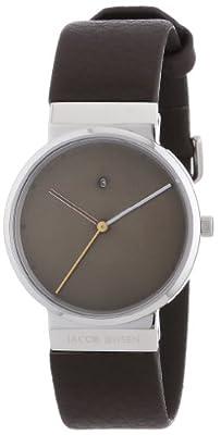 Jacob Jensen New Dimension 853 - Reloj de mujer de cuarzo, correa de piel color marrón de JACOB JENSEN
