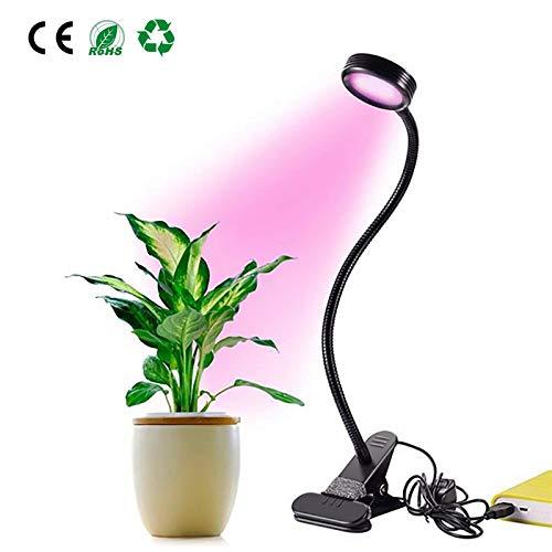 Pflanzenlampe,GLIME LED Hydroponisches Pflanzenlicht Plant Licht mit Flexible Unterstützung Clip...