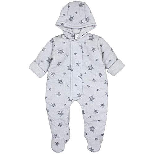 TupTam Baby Unisex Winter Schneeanzug Gemustert, Farbe: Sterne Grau, Größe: 74