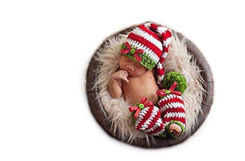 Newborn Baby Mädchen Boy Crochet Knit Hat Leg Cover Fotografie Requisiten OUTFITS Kostüm (Leg Kostüme)