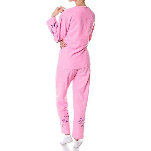Damen Schlafanzug Hausanzug Pyjama 2 Teilige Set 21694 Rosa