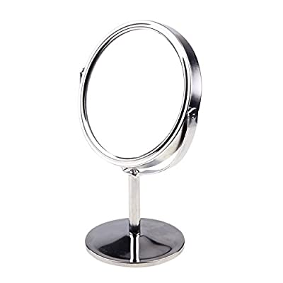 KevenAnna 3.25-inch Diameter Tabletop Two-sided Swivel Vanity Mirror with 8x Magnification, Suitable for Bedroom and Bathroom - cheap UK light shop.