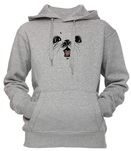 Erido Ghus Saga Comic Fantacy Unisex Herren Damen Kapuzenpullover Sweatshirt Pullover Grau Größe S Unisex Men's Women's Hoodie Grey Small Size S