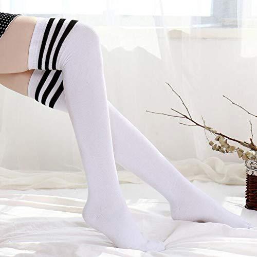 SLXFAD Strümpfe Frauen Hoch Über Dem Knie Socken Undurchsichtige Schüler Strümpfe Schwarz Warme Lange Strümpfe Strümpfe Für Mädchen Teenager