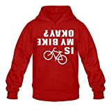 Is My Bike Okay Woman Sweatshirt Hoodie-Red
