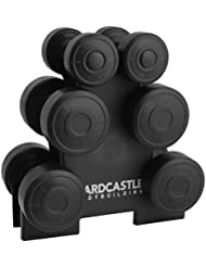 Hardcastle 12kg Dumbbell Weight Set & Rack