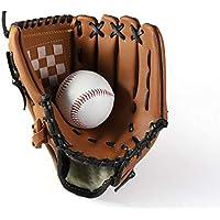 SOWOFA - Guantes de béisbol para Hombre, Talla M (11,5 Pulgadas), diseño de Jarra de béisbol, Marrón