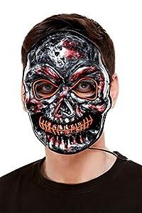 Smiffys 52361 - Máscara de esqueleto para adultos, unisex, color gris, talla única