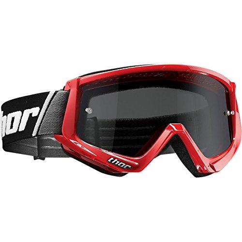 Thor Combat Sand Goggle Crossbrille Rot Motocrossbrille Offroad Enduro Quad ATV Yamaha Kawasaki Honda Suzuki KTM MX SX DH FR Motocross Cross Brille getöntes Glas