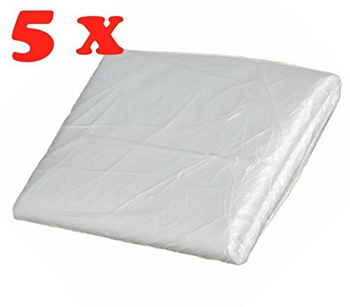 Preisvergleich Produktbild 5 x 20m² (4x5m) Abdeckplane Abdeckfolie für Mike Sander Malerfolie