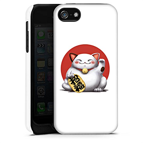 Apple iPhone 4 Housse Étui Silicone Coque Protection Kawaii Chat Japon Cas Tough terne