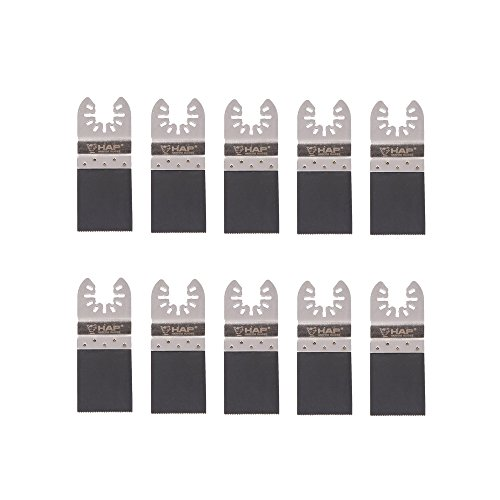harpow 10Bi-Metall E-Cut-Sägeblatt mit Halter aus Edelstahl, Power oszillierendes Werkzeug Klingen, Multitool Klingen, Power Werkzeug Klingen, passend für Fein Bosch Craftsman Rockwell Einhell Westfalia Ferm Pro-Line Matrix Tools