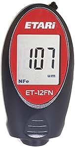 ET 12FN Épaissimètre de couches, Appareil de mesure d'épaisseur de couche, Mesureur d'épaisseur de peinture, Jauge d'épaisseur de revêtement- pour les mesures sur du fer/acier et les métaux non-ferreux
