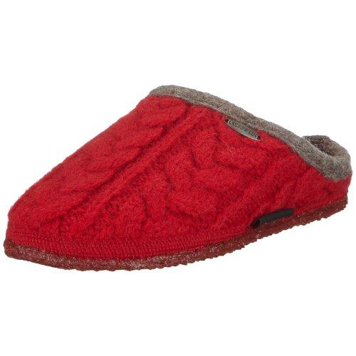 Giesswein Neudau 42471, Pantofole unisex adulto Rosso (Kirsche)