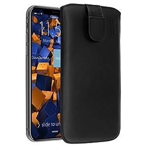 mumbi Echt Ledertasche kompatibel mit iPhone SE 2 2020/7 / 8 Hülle Leder Tasche Case Wallet, schwarz