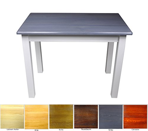 Esstisch Küchentisch Tisch Massiv Kiefer Speisetisch in versch. Größen (50x60, Grau/Blau)