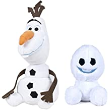 """Frozen- Pack 2 Plush toy """"Olaf""""(11""""/30cm Sitting) - Snowman+ """"Snowgies"""" (9""""/23cm) Snowball - Good and soft quality"""