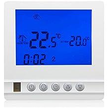 beok tol53-ep programable eléctrico calefacción por suelo radiante Termostato digital controlador de temperatura ambiente con pantalla LCD y sensor de suelo, AC230V 16A