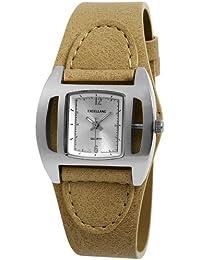 Excellanc 195222700003 - Reloj analógico de mujer de cuarzo con correa de piel beige