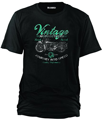 Wolkenbruch® T-Shirt Vintage Motorcycles Road Tested, Gr.4XL (T-shirt Old-school-xl)