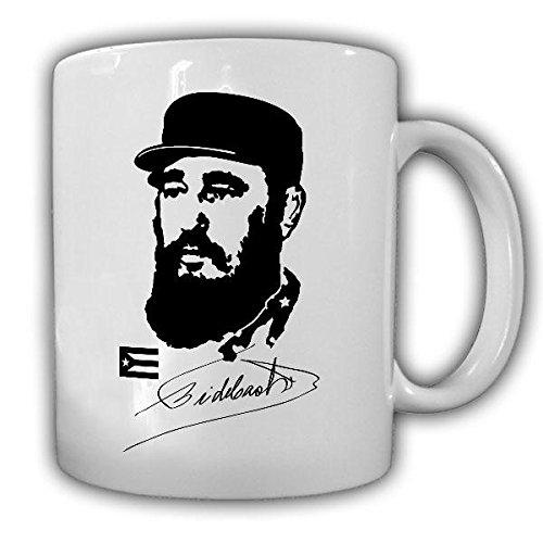 Kuba Fidel Castro Unterschrift Havanna Máximo Líder viva Revolutions kubanischer Revolutionär nicht-monarchische Staatsoberhaupt Revolution Politiker Gedenken Präsident Kaffee Becher - Tasse #19650