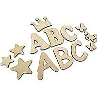 7cm Buchstabenrohling I Holzbuchstaben, Zahlen zum bemalen I Als Wunschname individualisierbar I Tolle Holzmotive zubuchbar I Buchstaben von A-Z vorhanden auch Zahlen und Sonderzeichen wie &,?,! usw.
