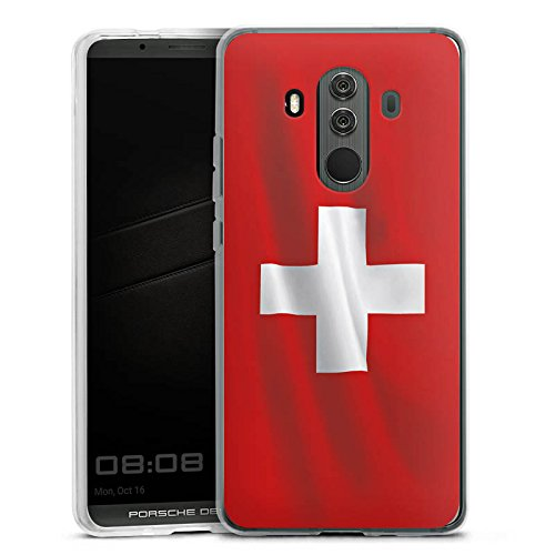 Huawei Mate 10 Porsche Design Silikon Hülle Case Schutzhülle Schweiz Flagge Flag
