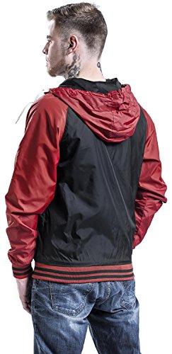 Raglan Windbreaker Schwarz/Rot