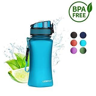 Uzspace Trinkflasche -auslaufsichere Ttitan Wasserflasche |350 ml & 500 ml & 1000 ml | BPA- Frei Sportflasche ? Uni -Schule - Fahrrad - Spaziergang - Sport