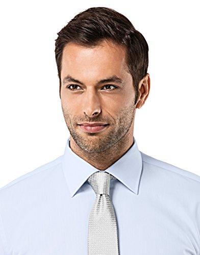 Vincenzo Boretti Herren Hemd Regular Fit Bügelfrei Uni Hellblau