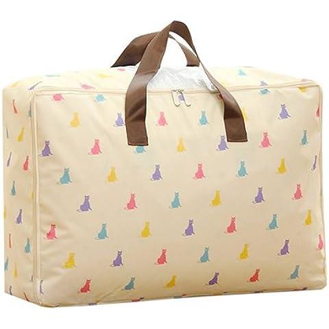 tysum (TM) espesan bolsa de gamuza de Oxford edredones bolsa de almacenamiento con asa visible acabado de ropa bolsas para ropa de cama B87, 4,