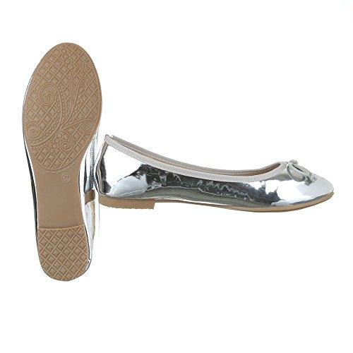 Ital-Design , Ballerines pour femme Silber