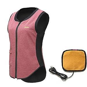 DZX Elektrische Warme Kleidung/Heizung Weste, Mit USB-Kabel-für Outdoor-Reisen Camping Bike Skifahren (Unisex),MenGrey-2XL