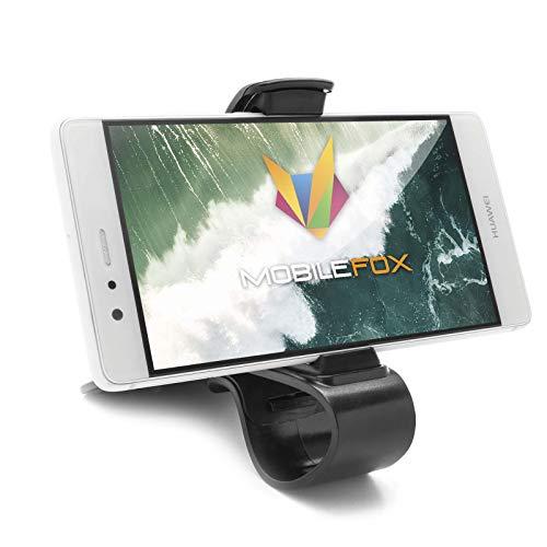 mobilefox® KFZ Klemmbacken Armaturenbrett Handy Halterung Auto Clip Halter für Huawei Mate 10 Pro 9 8 (Handy-clip Auto Für)