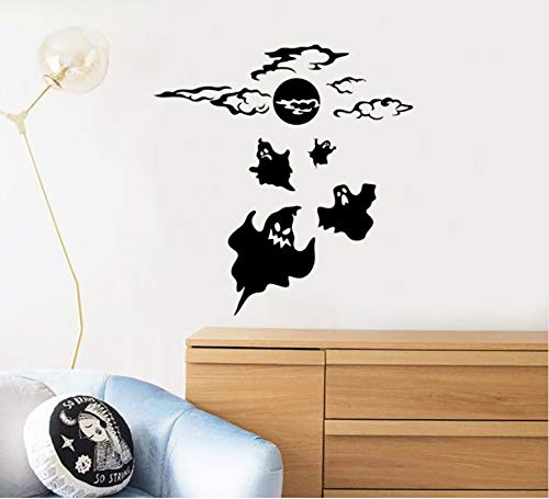 Lovemq Geist Halloween Wandtattoo Kunst Wandaufkleber Happy Holiday Home Dekoration Kinderzimmer Dekor Geschenk Diy 57X59 Cm