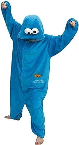blau Eeyore Esel Unisex Kigurumi Einteiler Tier Pyjama Cosplay Kostüm Schlafanzüge - Blau Sesamstraße, Size L for height