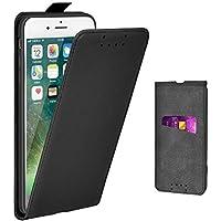Adicase iPhone 7 Plus Case Leather Flip Case Slim Cover for Apple iPhone 7 Plus / 8 Plus 5.5 Inch (Black)