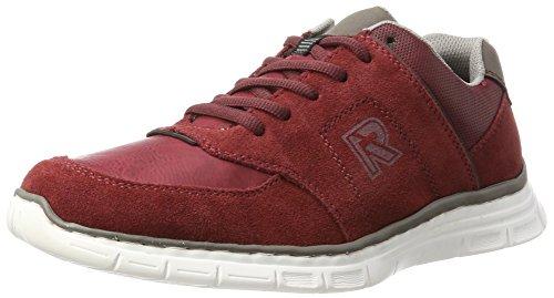 Rieker Herren B4843 Sneaker, Rot (Wine/Wine/Polvere), 46 EU (Band Rot Schuhe)