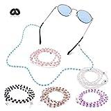 Kalevel Kalevel Eyeglass Chain Holder Glasses Strap Eyeglass Chains and Cords for Women White