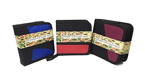 3PKS-24Kapazität CD DVD Storage Case Disc Wallet Bag Album Wallet Case Holder w/Reißverschluss Media Wallet Case