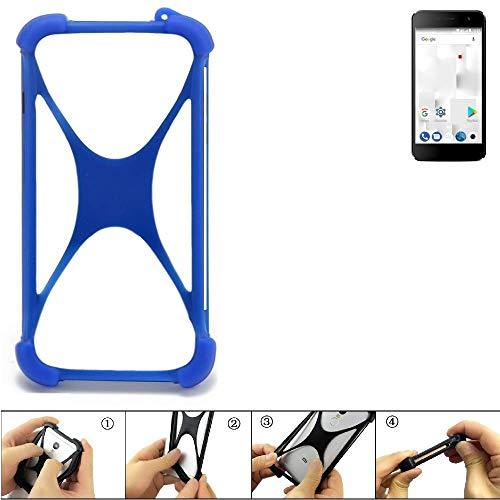 K-S-Trade Handyhülle Thomson Friendly TH101 Silikon Schutz Hülle Cover Case Bumper Silikoncase TPU Softcase Schutzhülle Smartphone Stoßschutz, blau (1x)