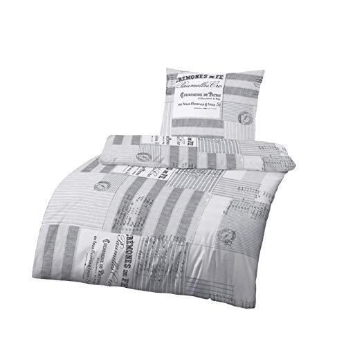 Träumschön Renforce Bettwäsche 155 x 220 | Bettwäsche 155x220 cm & Kissenbezug 80x80 2tlg | 100% Baumwoll Bettwäsche | Tolle Sommerbettwäsche