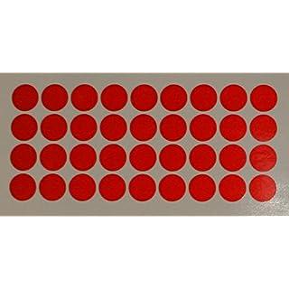 """Reflektierendes Aufkleberset """"Kreise, 36 Stück, rot"""", reflex_004_rot, Ø 2cm pro Aufkleber, Reflexion, Leuchtaufkleber, Aufkleber für Bike, Helm, Auto, Sicherheit für Kinder"""