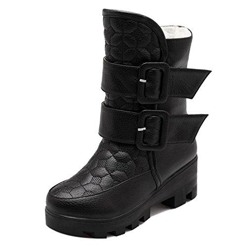 Black Stivali Caldi Invernali Donne h Coolcept B0EzqI